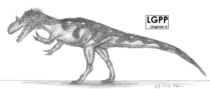Allosaurus fragilis by EmperorDinobot