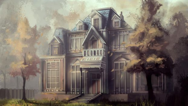 Creepy Mansion by Scarlia
