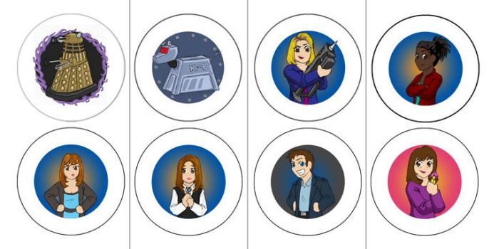The Doctor Companions Buttons by JesIdres