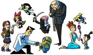 Despicable Me Meets The PPGs by x-EBee-x