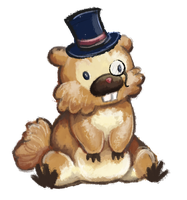 Messy bidoof in a top hat