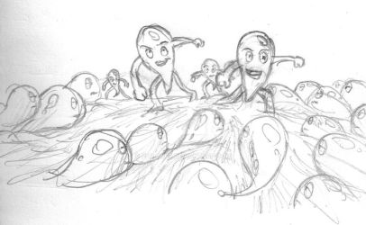 Sketch The crazy little drops by fdrawer
