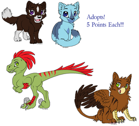 Five Point Adopts- CLOSED by BlackWolf1112-ADOPTS