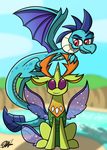 King Thorax and Lord Ember by Draw-Phalanx