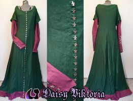 Green Cotehardie For a Client by DaisyViktoria