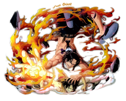 Last flame ~ Ace and Luffy ~ Marineford by FrutiOrient