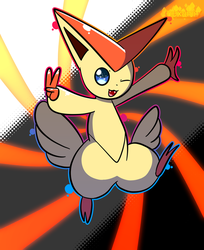 Victini (eh, lol) by hexamithefreak