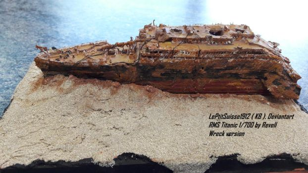 Titanic Wreck, the Bow, Portside by LePtitSuisse1912