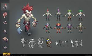Evil guy for a mobile game - Character concept by Belibr