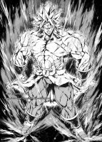 BROLY SSJ2 - from Dragon Ball Broly Movie by marvelmania