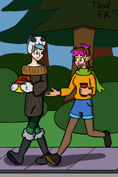 Ella and Jaime Out for a Walk by Teal-Eh