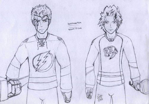 Fairy Tail - NHL Uniforms 02 by VoltsPower2K