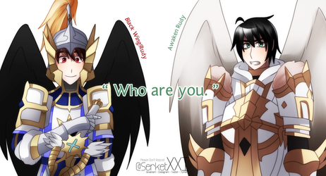 + 7Knights: Black Wing!Rudy and Awk Rudy + by SerketXXI