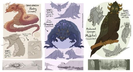 Game Concept-Dragon Designs2 by MadJesters1