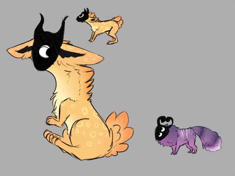 TlMELORD Mask Creatures by TheseWeirdFishes