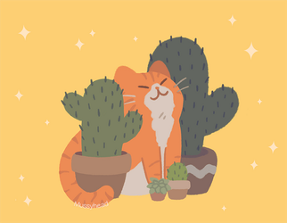 Cactus Friends by mussyhead