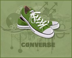 Green Converse by mGoR