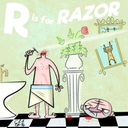 ALPHAMABET OF DANGEROUS - R is for RAZOR by FLUMPCOMIX