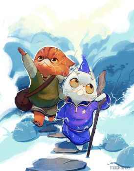 Adventure Cats by cheepers