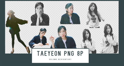 TAEYEON instagram 8P PNG by vul3m3
