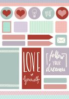 FREE Printable Journaling Embellishments by Ninelyn