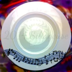 notes (painting on plate) by Sillageuse