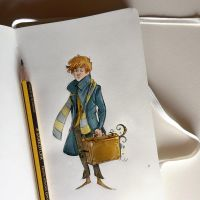 Notes and sketches | Newt Scamander by SimonaBonafiniDA