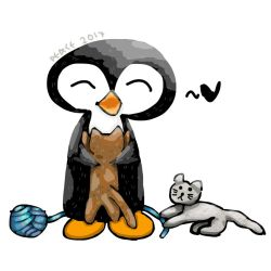 Penguin 59: Happy Belated National Cat Day by arxtici