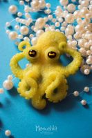 Octopus Brooch by miaushka-workshop