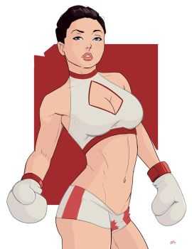 Pro Boxer Pin Up Commission 4 by Mro16