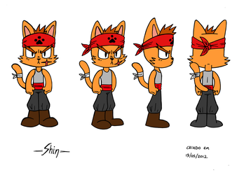 Model Sheet: Shin by SirBruks