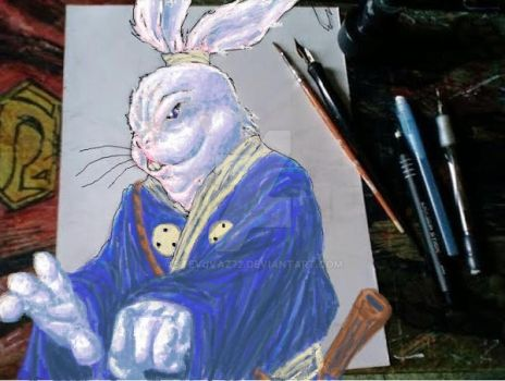 My Version Of Stan Sakai's Usagi Yojimbo-MSPaint i by StevJVaz72