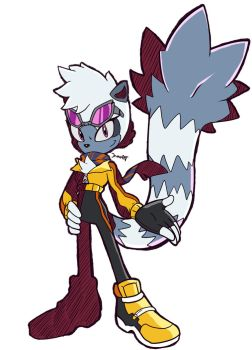 Sonic Riders - Tangle The Lemur by JamoART