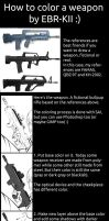 How to color a weapon by EBR-KII