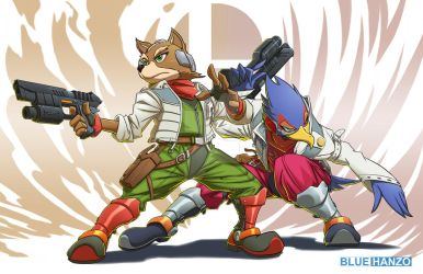 Fox and Falco by MadPlatypuss