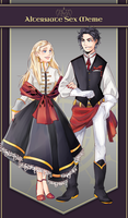 AA: Beatrice and Ellis by taiwonton
