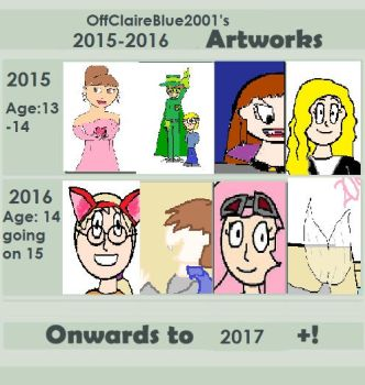 1 Year And Look At The Squeezed In Art by OffClaireBlue2001