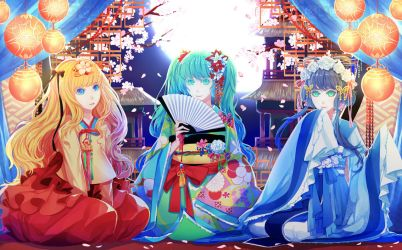 Japan, China, and Korea Vocaloid by Shei99