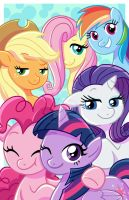 My Little Pony Mane Six by TheCrayonQueen