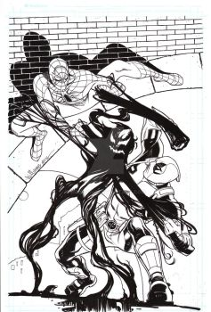Spiderman Deadpool symbiote cover by BroHawk