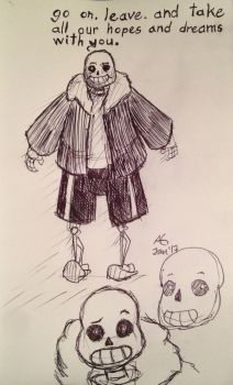 Undertale Sans - Sketches by NinjaObsessed