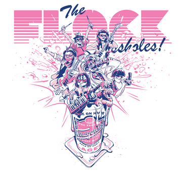 The Flock of *ssholes! T-Shirt design by abnormalbrain