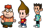 Jimmy, Carl and Sheen - Paper Mario style by FruitfulMelonCauli