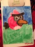 My third Painting (Scary Red) by Mario1998