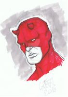 Daredevil - copic sketch! by greenisagoodboy