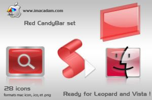 Red CandyBar Set by isb