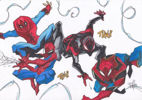 Suits of Spiderman by 2hotty7