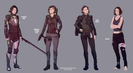 Alex Danvers Alternate Outfits by plastic-pipes