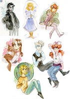 AU: Watercolor artdump by vervayn