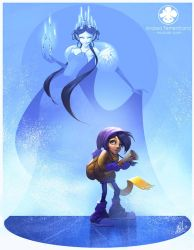 New Illustration - The Ice Queen by Noukah